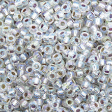 11 grams) 8/0 Seed Beads_Silver Lined Clear AB_Miyuki #1001_Size 8's
