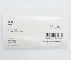 100) 3mm Swarovski Crystal Pearls