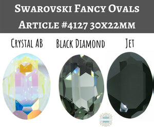 30x22mm Swarovski Fancy Oval Stone_Pick Your Color_Article #4127