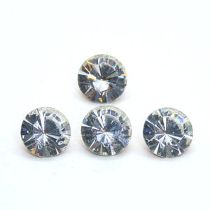 6) SS40 Vintage Swarovski #1102 Crystal Brillion Chatons_Crystal Clear Gold Foil_DS&Co