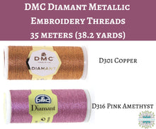 38.2 Yard Spool) DMC Diamant Metallic Embroidery Thread_10 colors