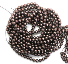 50 beads) 6mm Swarovski Pearl Beads_Velvet Brown