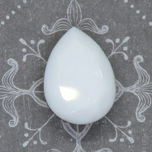 1 pc) 18x13mm Vintage Swarovski Pear_Chalkwhite Gold Foil_Rare_#4320 Fancy Stone_Special Production