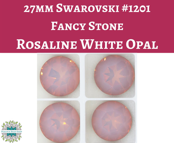 27mm Round Swarovski Fancy Stone_Article #1201_Rosaline_Mahogany