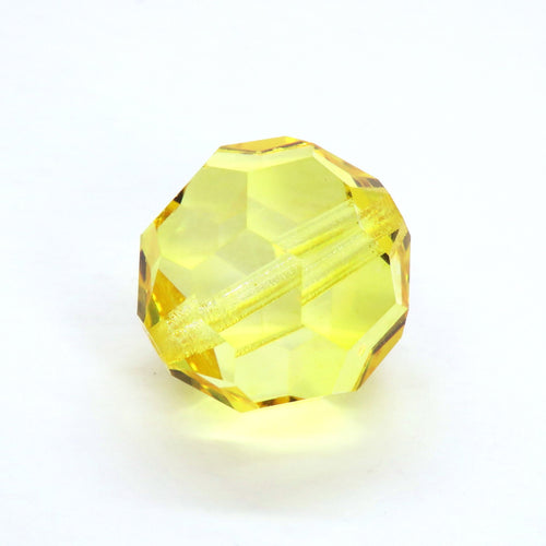 1 bead) 18mm Discontinued Preciosa Crystal Rounds_Sharp Yellow
