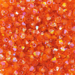 50 beads) 3mm Preciosa Crystal Bicones_Sun Summer Blush
