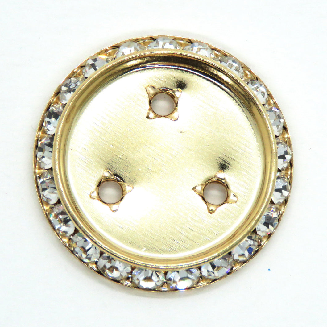 2 pcs_ 30mm Surround Settings for 24mm Cabs Preciosa Crystal Rhinestone Rondelle Shrag Setting_Silver Plate_Gold Plate