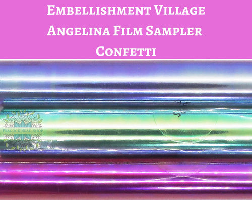 Angelina Film Sampler Confetti_4 inch wide by 3 feet long