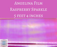5 feet by 4 inches Raspberry Sparkle Angelina Film