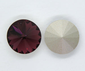 2 pieces) 14mm Preciosa Crystal Rivolis_Amethyst