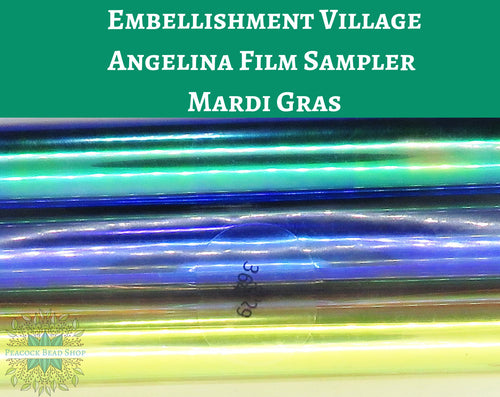 Angelina Film Sampler Mardi Gras_4 inch wide by 3 feet long