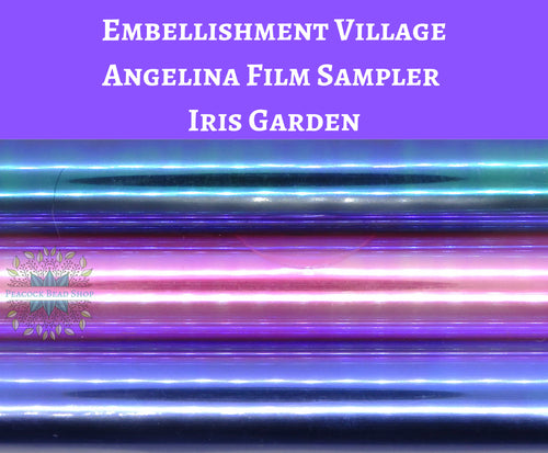 Angelina Film Sampler Iris Garden_4 inch wide by 3 feet long