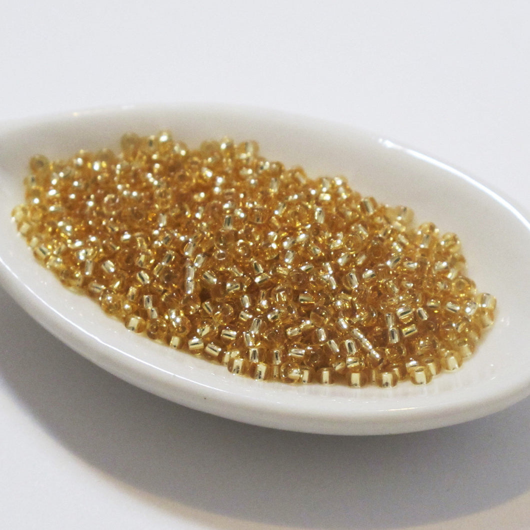 11/o Miyuki Seed Beads #3_Silver Lined Gold_11 grams