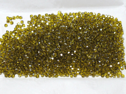 Swarovski #5301_3mm Bicones_Citrine Satim