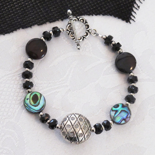 CLOSEOUT_Onyx and Abalone Bracelet Kit_Jewelry Design