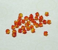 6mm Swarovski Bicones_Fire Opal_36 Beads_Discontinued Style_Swarovski Crystal Beads_#5301_Orange_Red_Yellow