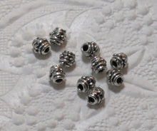 SALE_Antiqued Silver finish Pewter Beads_5.5mm Long