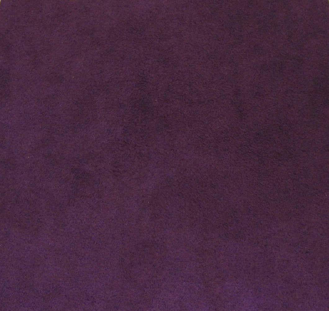 Plum Purple Ultrasuede_8.5x8.5 inches square_Violine_Microsuede_Fabric for Bead Embroidery