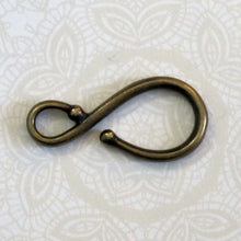 32x15mm Large Hook Clasp_Antiqued Brass_Statement_Steampunk Cosplay_Costume Supply