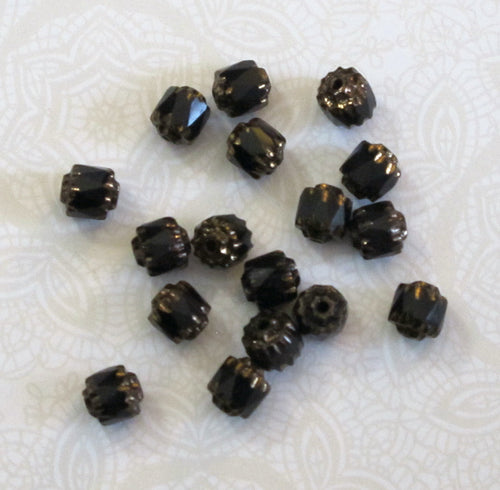 Closeout SALE_6mm Cathedral Beads_ Jet Black