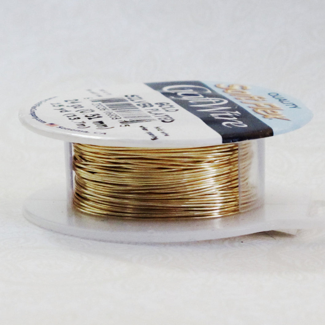 24 gauge Wire_Non Tarnish Gold Plated_Fine Silver Plate Wire