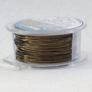 24 gauge Wire Vintage Bronze_20 Yard Spool_Dead Soft_ Soft Brown