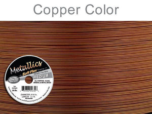 Medium Soft Flex_Metallic Copper_30 ft Spool_Stainless Steel_.019 inch_26lb test_Bead Stringing_Stringing Cord_Jewelry Design