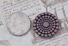 22mm Cab-Metallic Bronze-Circles-Button top-Czech-Glass Cabochon-Bead Embroidery-Jewelry Design