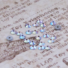 3mm Preciosa Crystal Sequins_Crystal AB_50 pieces_Sew on Sequins_Viva_