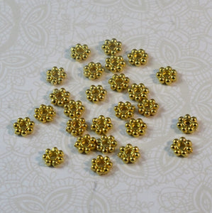 Closeout_6mm Gold Daisy Spacers_Flowers