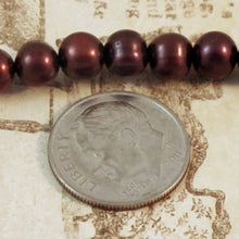 6mm Cranberry Pearls_Pearl Strand_Round Pearls
