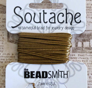 2.4mm Soutache Cord_Metallic Antiqued Brass Brown_3 yards
