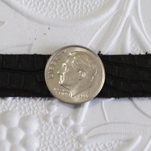 CLOSEOUT_Black Leather Strap_Dragon Pattern