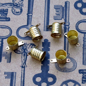 Round Globe Lightbulbs with Screw Finding 23mm Steampunk Tesla 6 Pieces