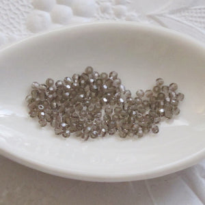 Greige 2mm Swarovski Crystal Rounds Article #5000 Discontinued 50 pcs