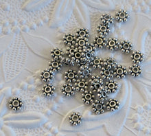 6mm Daisy Spacer Beads_50 pieces_Antiqued Silver