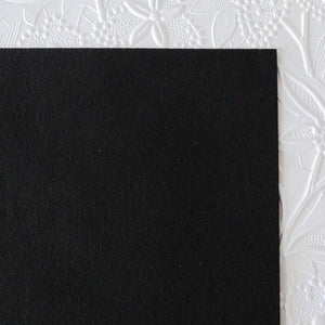 Black Ultrasuede Fabric_Bead Embroidery_8.5x8.5 inches square_Microsuede Backing_Jewelry Design_Beading Base