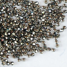 Metallic Light Gold 2X 2mm Swarovski Crystal Rounds #5000 Discontinued 50 pcs