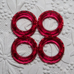25mm Donut Rings_Oriental Ruby_4 pieces