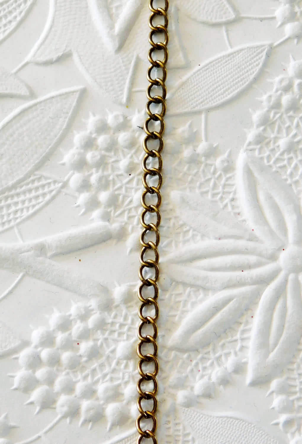 Antiqued Brass Curb Chain_3 feet_3x4mm_Extender Chain_Steampunk Style_Vintage Brown_