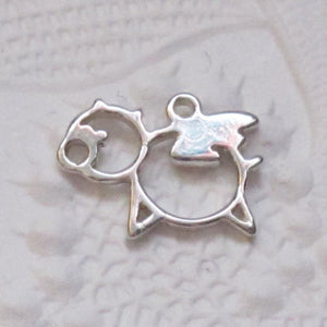 Flying PIG Charm_STERLING SILVER_12x9mm