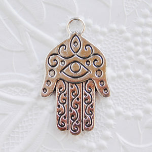 Hand of Fatima Pendants_40x42mm_4 piecesEvil Eye