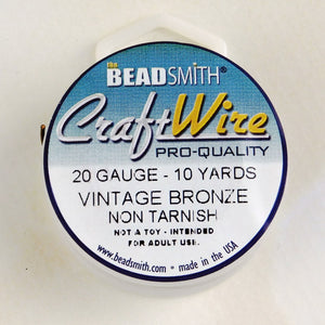 20 gauge Vintage Bronze Wire_10 Yard Spool_Natural