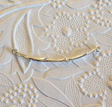 Twig Connector Branch Bright Silver Textured Pendant Tree Woods