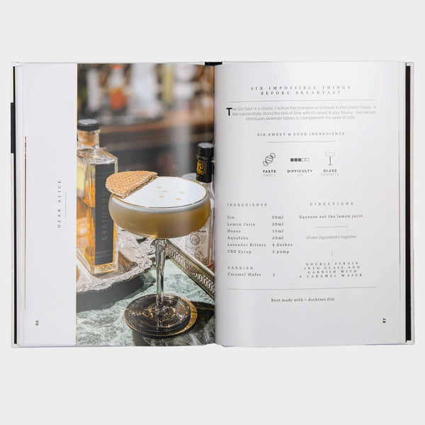 a page insert form a CBD Cocktail Book showing a drink recipe