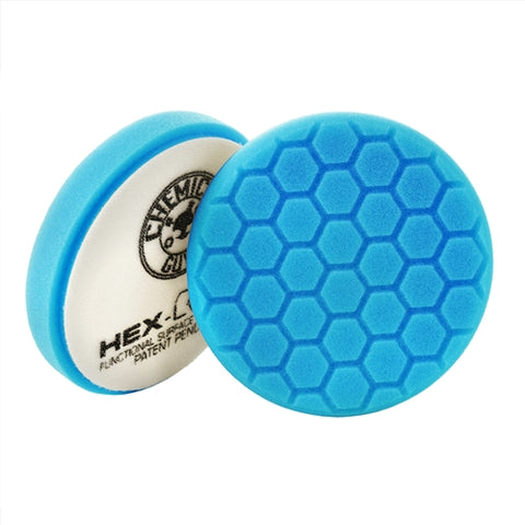 Hex-Logic Light Polishing/Finishing Pad, Blue (6.5 in.)