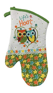 Owl Potholders and Oven Mitt