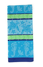 Load image into Gallery viewer, Sea Turtle Kitchen Towel with Turtle Shaped Dish in Blue or Green