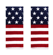 Load image into Gallery viewer, Celebrate Americana Patriotic Towel Set with Stars and Stripes in Red, White, and Blue