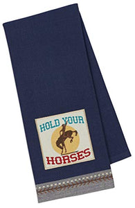 Western Kitchen Towels Set with Cowboy Hat and Boot Towel,  Horse Print and Plaid Towel